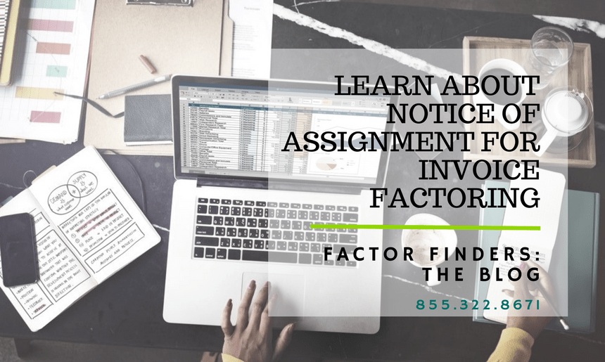 Factoring Paperwork Notice Of Assignment - Government invoice factoring