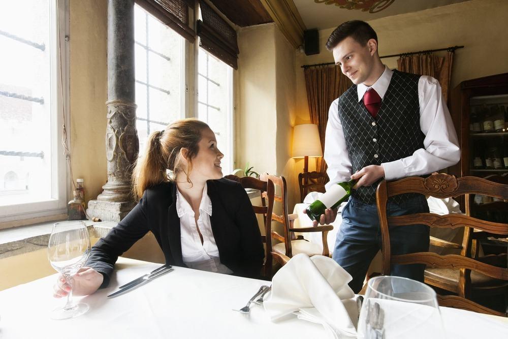 server in restaurant