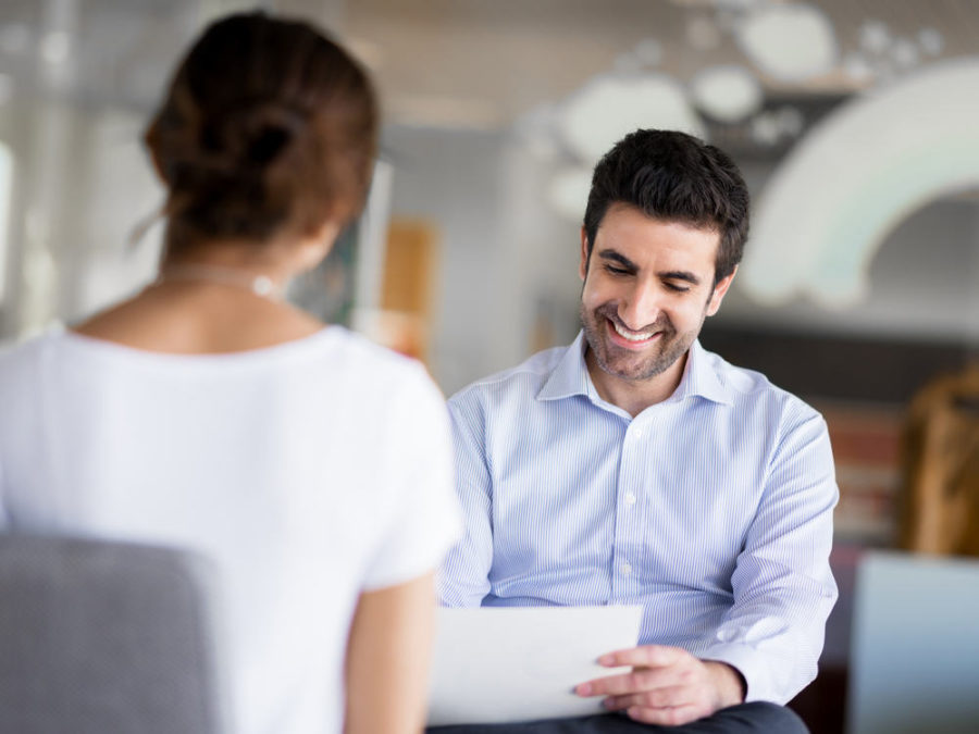 Interviewing staffing agency