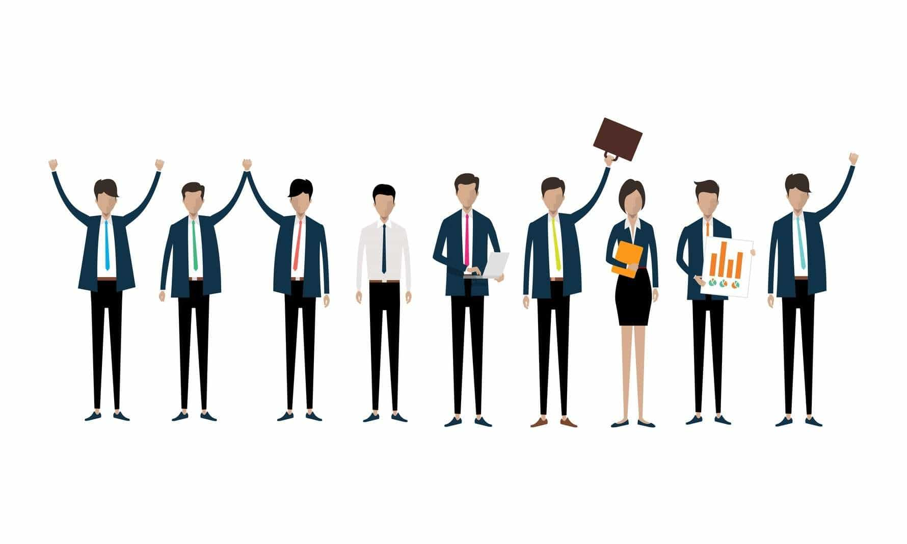 faceless line of business people