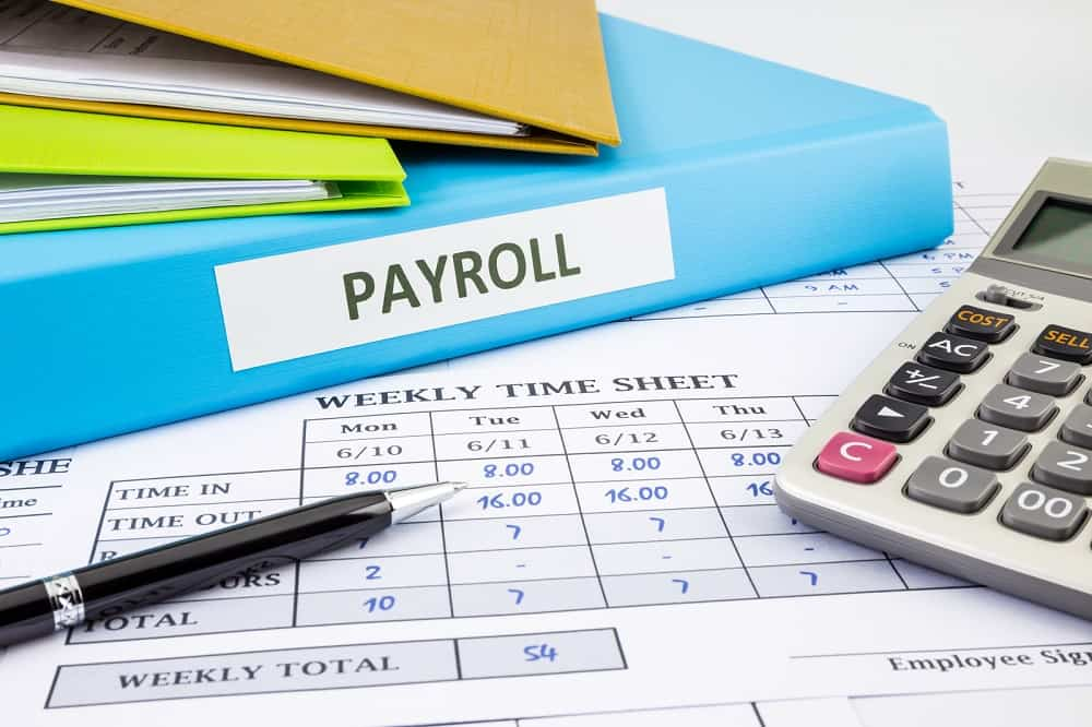 payroll binder and office supplies