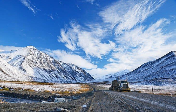 alaska north slope highway trucking
