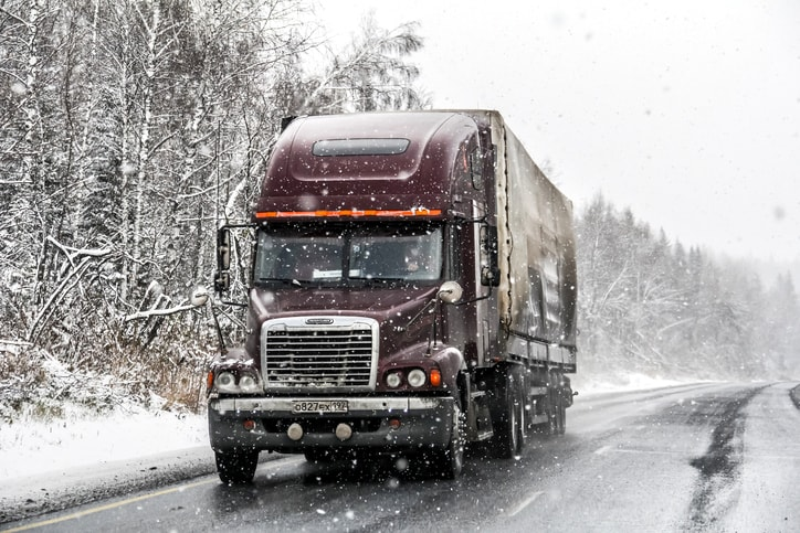 trucking in snow canada