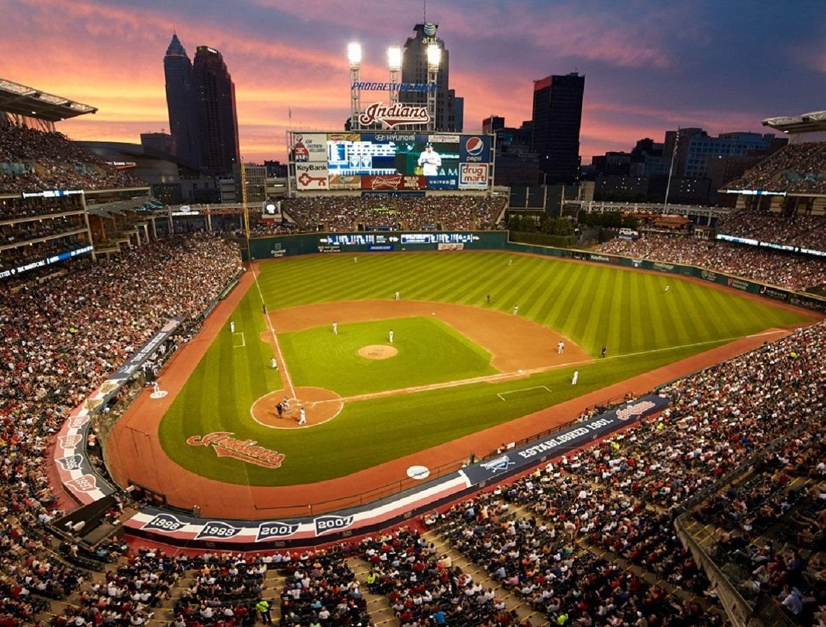 cleveland ohio progressive field indians baseball