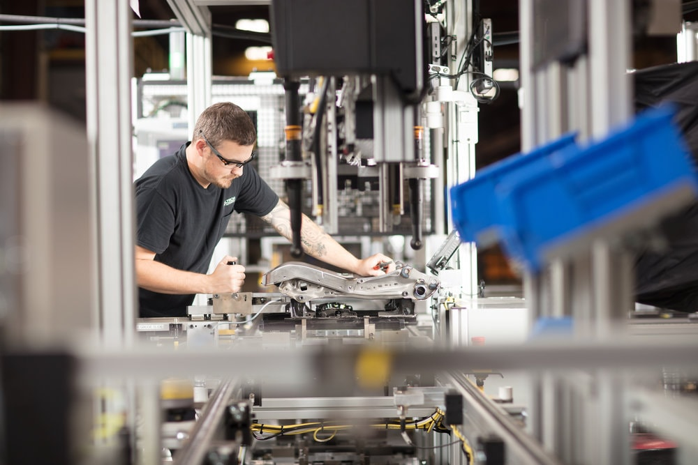 manufacturing assembly line worker