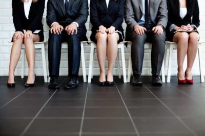Business people sitting in chair